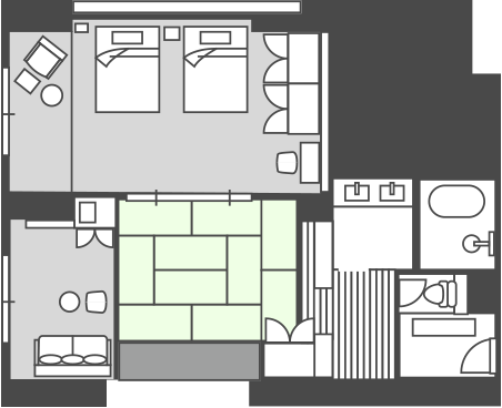 East Building Dog-Friendly Room Floor Plan