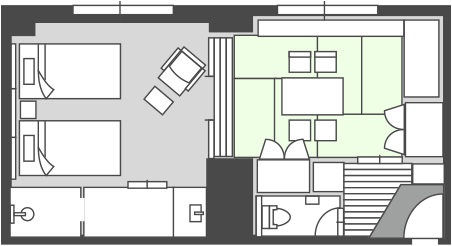 East Building Japanese-Western style Room Floor Plan