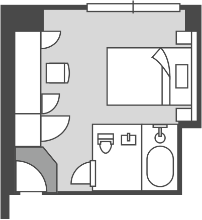 East Building Western-style Double Room Floor Plan