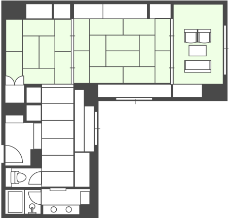 Main Building Semi-Special Room Floor Plan