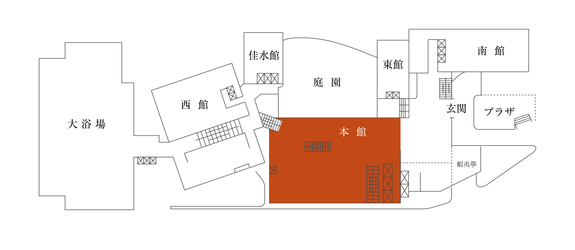 Main building hall drawing