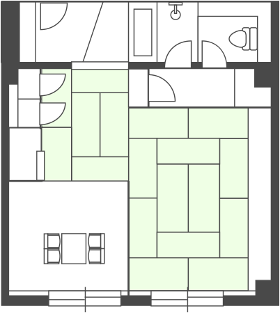 South Building Semi-Special Room Floor Plan