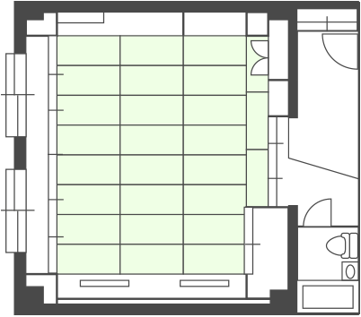 South Building Large Room Floor Plan