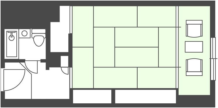 South Building Japanese-style Room Floor Plan